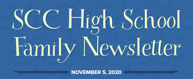 High School Family Newsletter: November, 2020