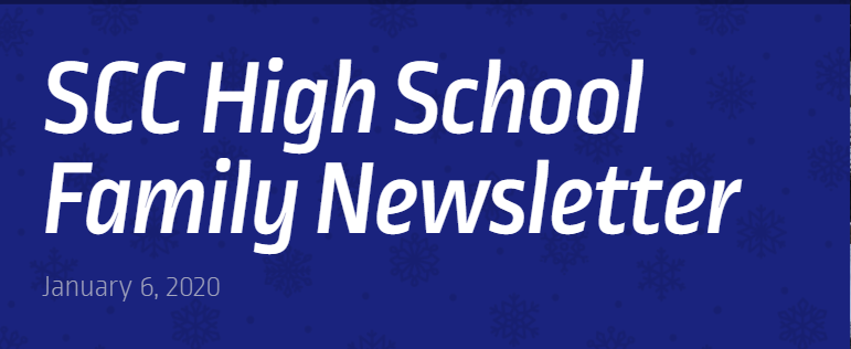 High School Family Newsletter:  January, 2021