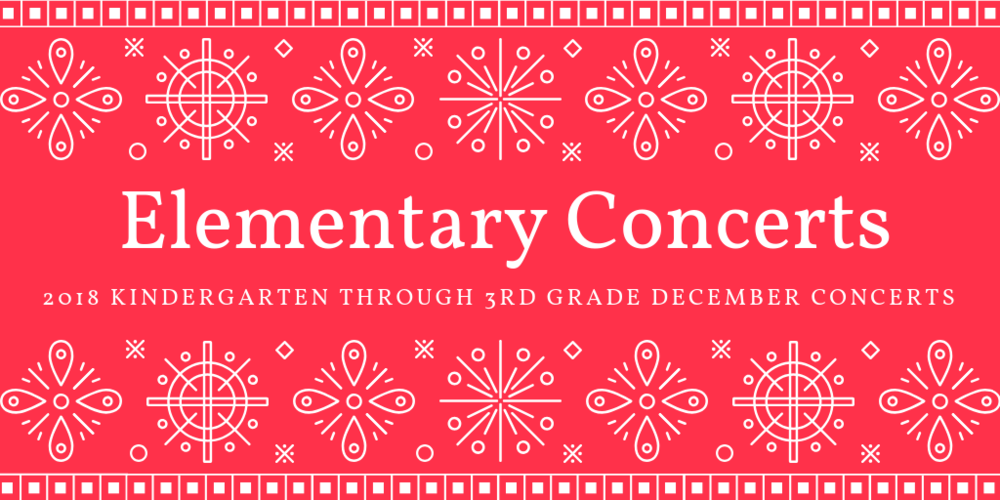 Upcoming Elementary Music Concerts