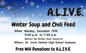 A.L.I.V.E. Winter Soup and Chili Feed