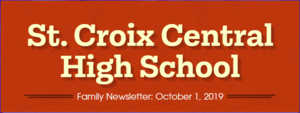 High School Family Newsletter for October