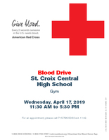 2019 NHS Spring Blood Drive