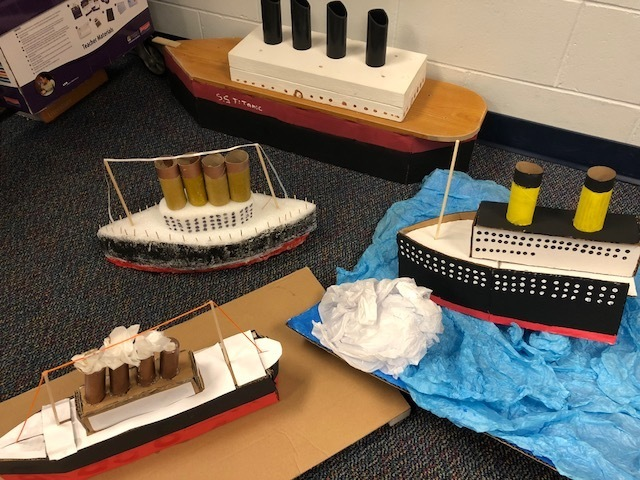 7th grade titanic projects