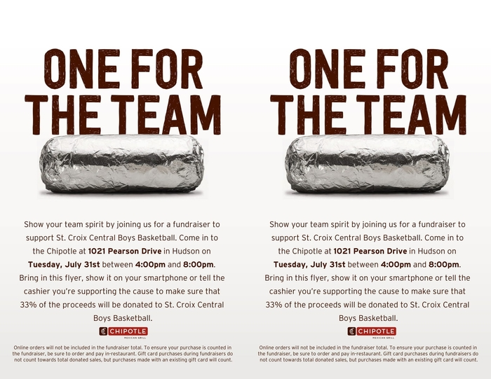 chipotle boys basketball fundraiser