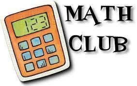 "A simple drawing of a calculator with the words ""MATH CLUB"""
