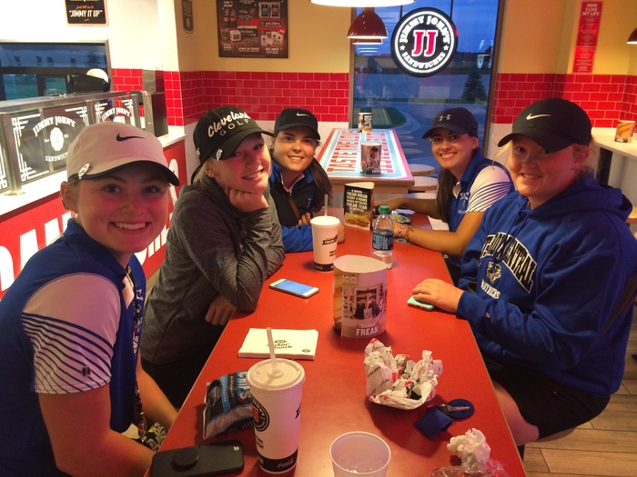 SCC Girls Golf eating @ Jimmy Johns