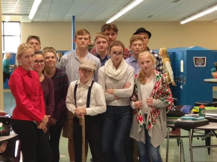 Sophomores and Freshman dress up as the elderly