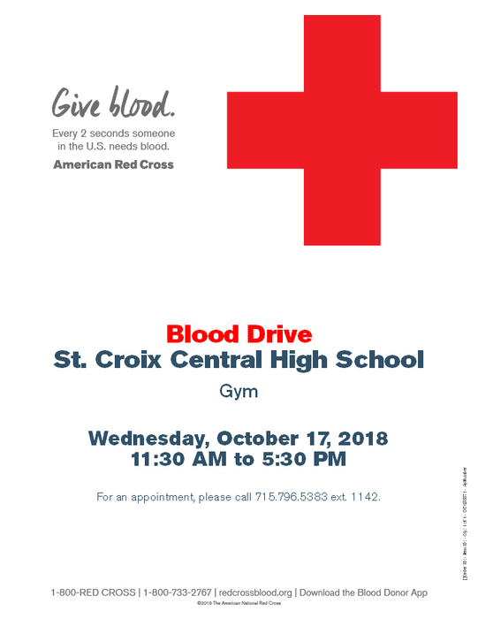 NHS Blood Drive Flyer