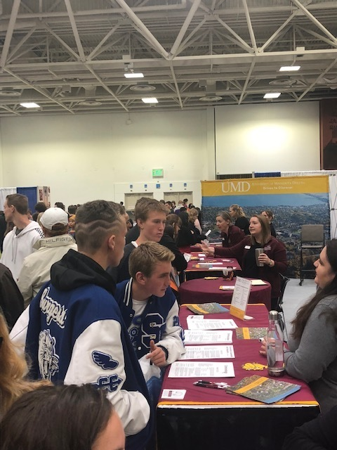 Juniors attended the National College Fair where they had an opportunity to network with admission counselors.