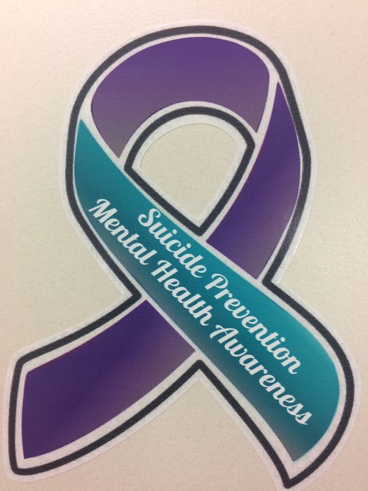 Suicide Prevention & Mental Health Awareness car decal