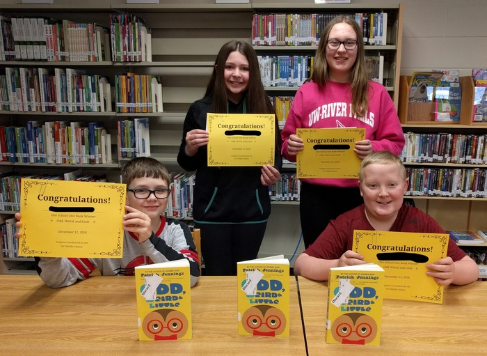 1st trimester winners for one school one book