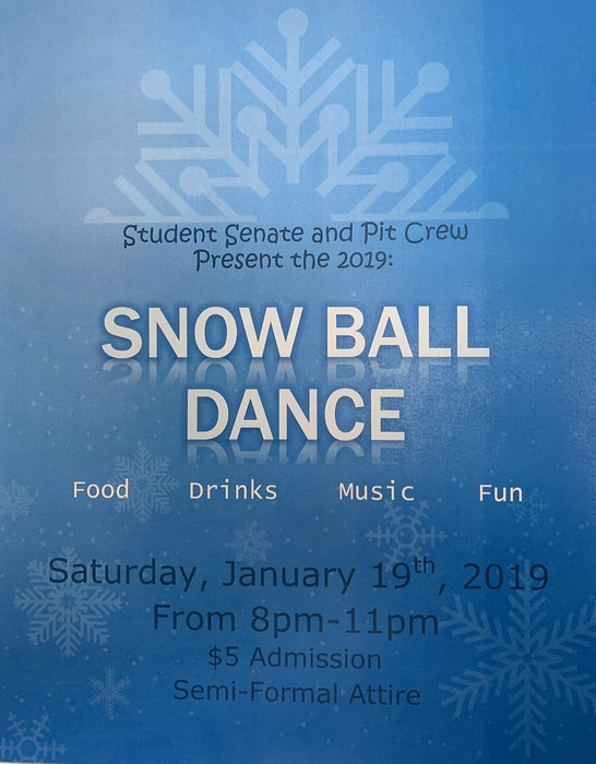 Student Senate and Pit Crew's Snow Ball Dance