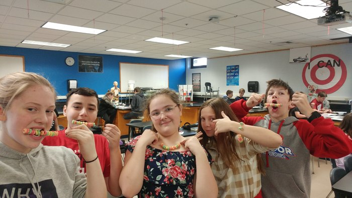Fruit Loop Amino Acid Chains and Marshmallow, Twizzler DNA Helix!!