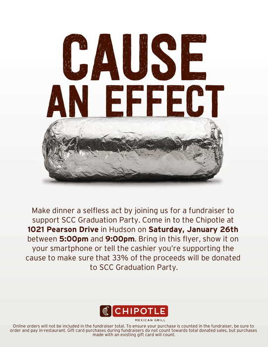 chipotle fundraiser jan 26