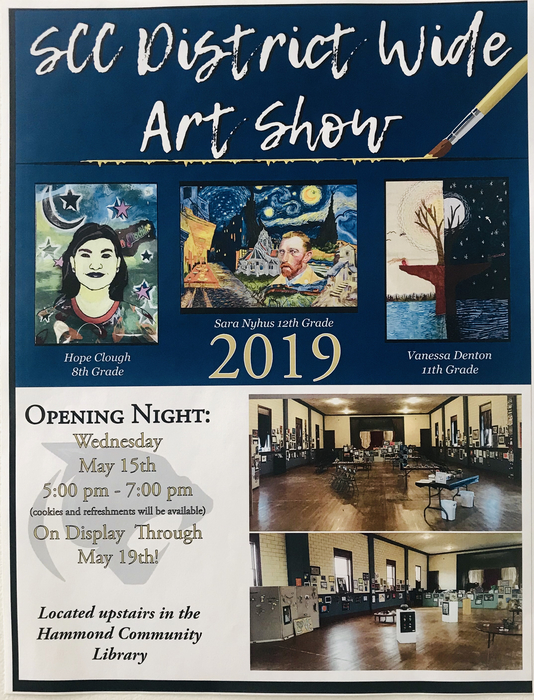 Art show will be open to view starting Wednesday, May 15th!