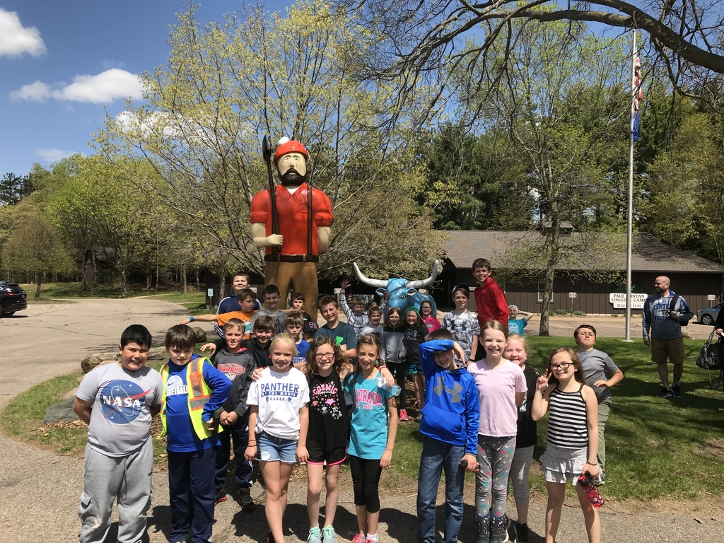 4th graders had a fun time learning about the history of logging in Wisconsin at the Paul Bunyan Logging Camp in Eau Claire!