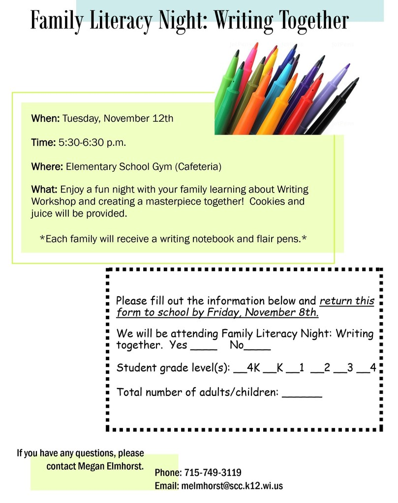 Family LIteracy Night: Writing Together