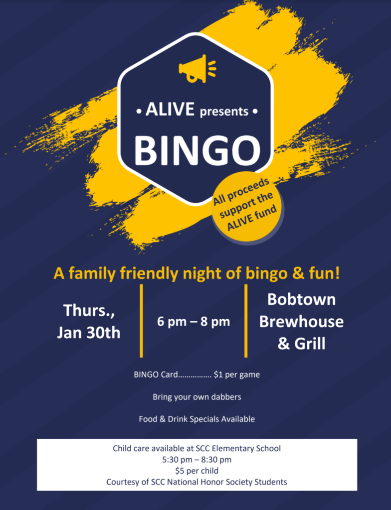 ALIVE Bingo Fundraiser January 30th