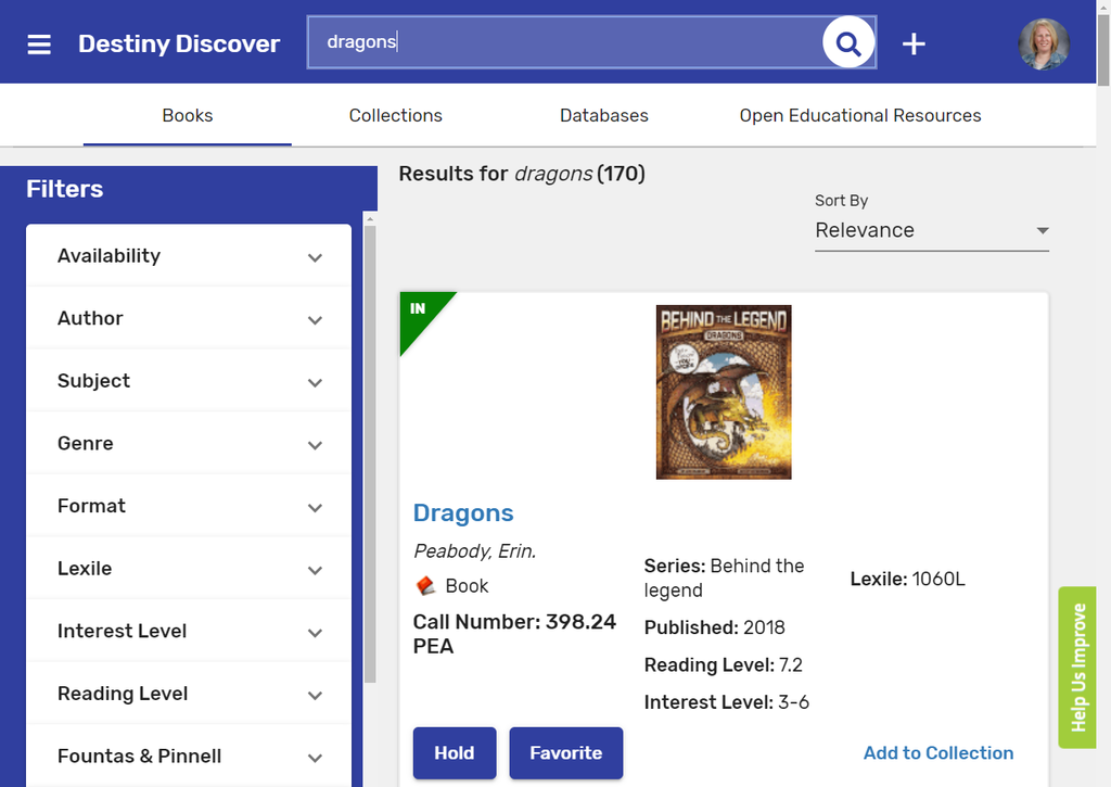 destiny discover search