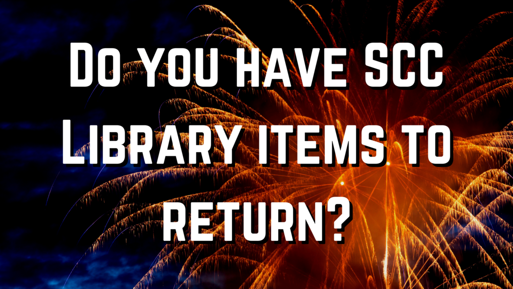 do you have library items to return